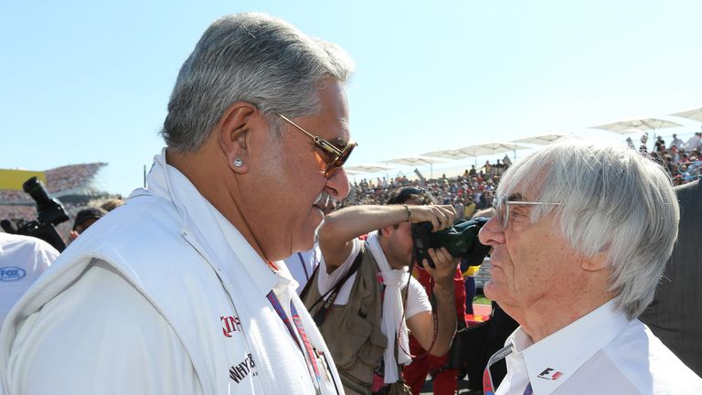 No fighting fund: Bernie Ecclestone and Vijay Mallya