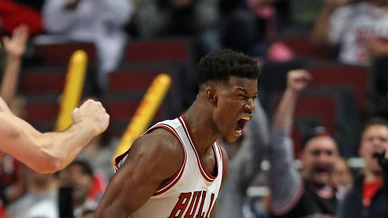 Jimmy Butler: Fires the Chicago Bulls to victory