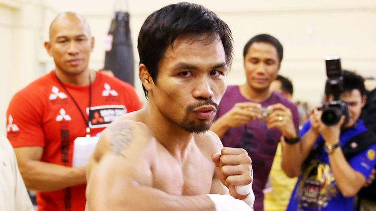 Manny Pacquiao: will always be remembered for it IF he beats Floyd Mayweather