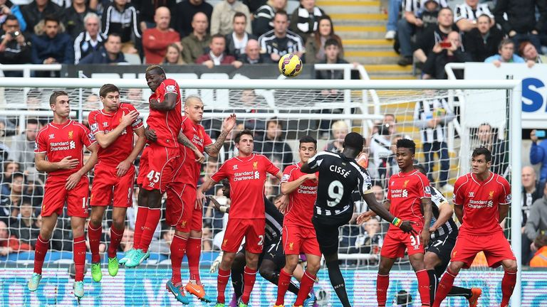 Cisse: Tries his luck with first-half free-kick