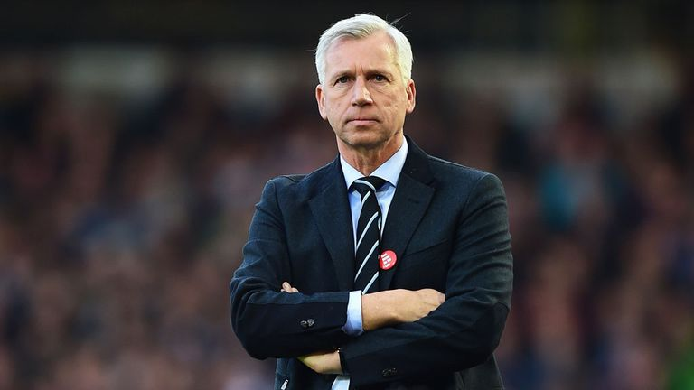 Alan Pardew spent four years as manager of Newcastle