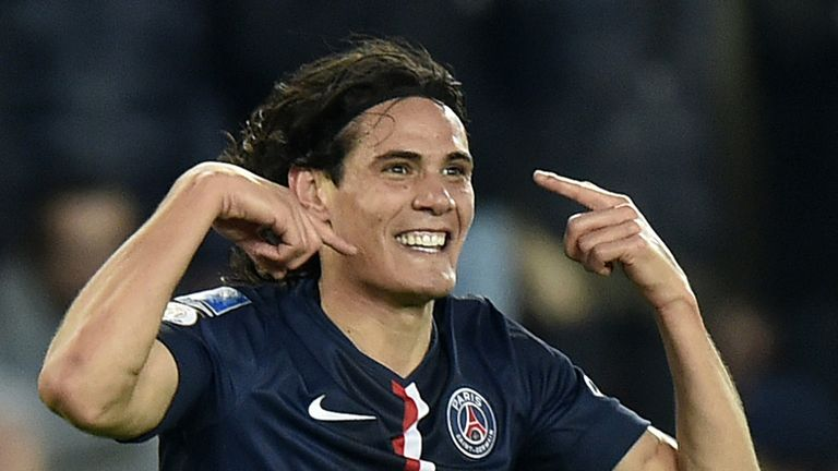 PSG forward Edinson Cavani is all smiles in Paris