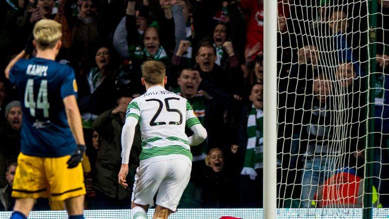 Celtic's Stefan Johansen pulled a goal back for the home side