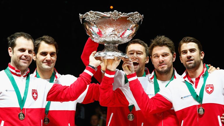 Switzerland won the Davis Cup in 2014 on French soil