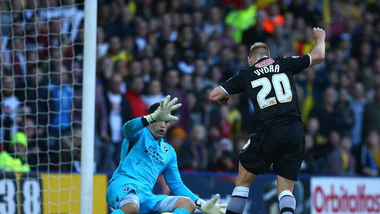Matej Vydra: Fires home for the league leaders
