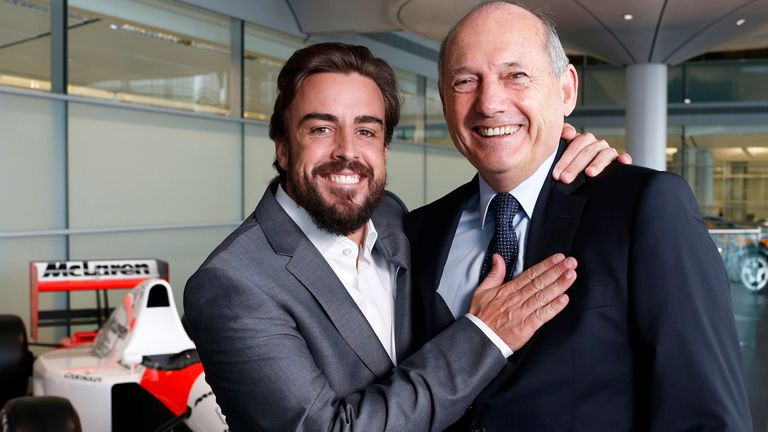Sealed with a hug: Alonso's return to McLaren was confirmed in December