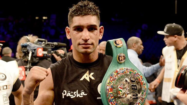 Amir Khan would jump at the chance to fight Floyd Mayweather