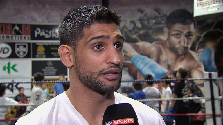 Amir Khan is looking to fight for the WBC world title