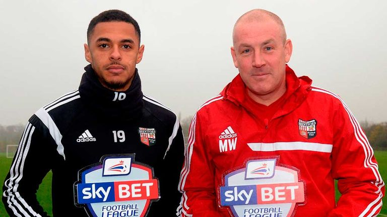 Andre Gray and Mark Warburton: Sky Bet Championship Player of the Month and Manager of the Month for November