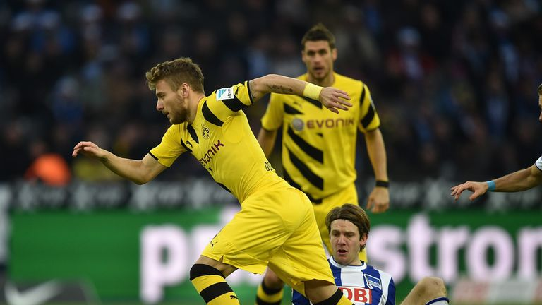Ciro Immobile in action for Dortmund