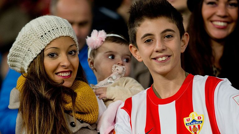Almeria fans finally had something to smile about