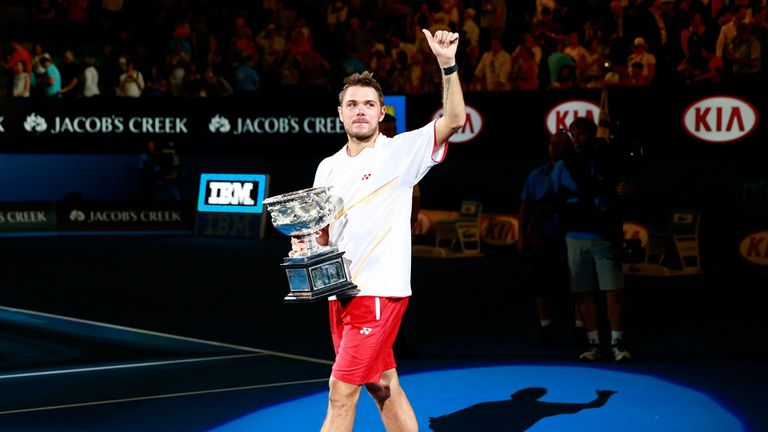 Wawrinka won his maiden Grand Slam in Melbourne last January