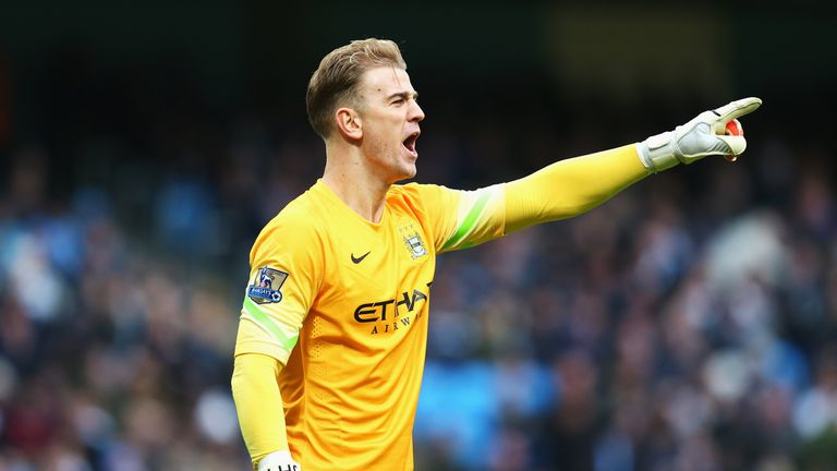 Joe Hart barks instructions at his defence