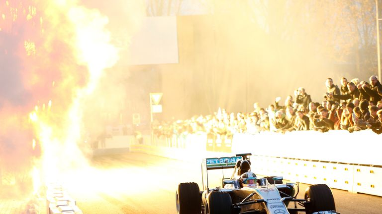 The fireworks go off for the new World Champion (Mercedes image)