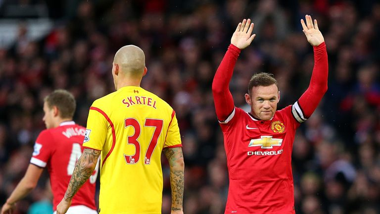 Wayne Rooney celebrates strike against Liverpool but sixth-straight is off the cards