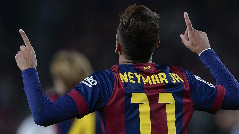 Neymar: The Brazilian has scored 26 goals this season.