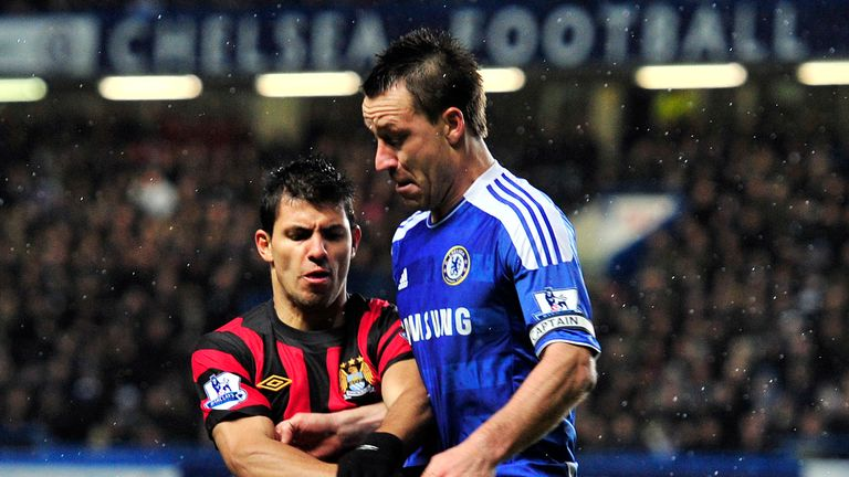 John Terry has a tough task on his hands against livewire striker Sergio Aguero