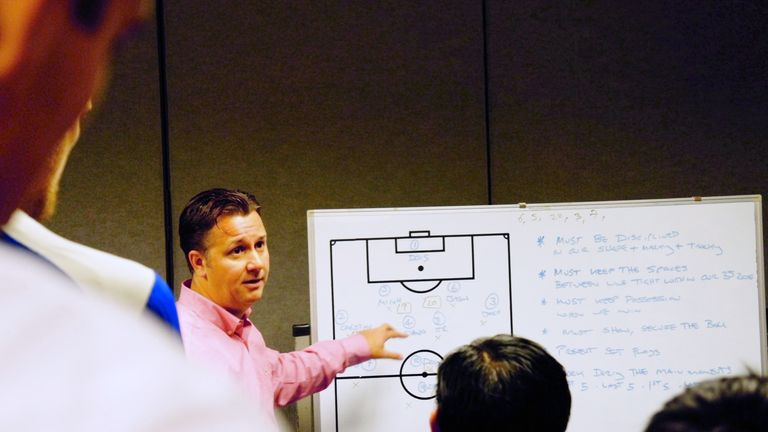 White in a session in his role as Guam's head coach and technical director