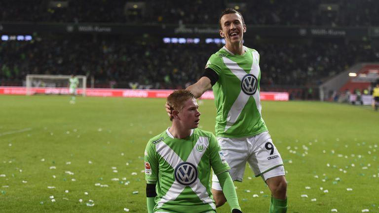 Wolfsburg's Kevin De Bruyne celebrates