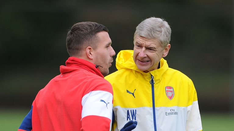 Lukas Podolski was signed by Arsene Wenger in 2012 and scored 31 goals in 82 appearances for the Gunners