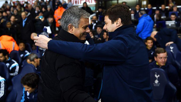 Mourinho and Mauricio Pochettino pictured at White Hart Lane last season