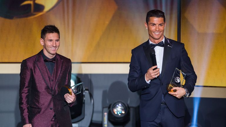 Ronaldo beat Lionel Messi to the Ballon d'Or award in 2015
