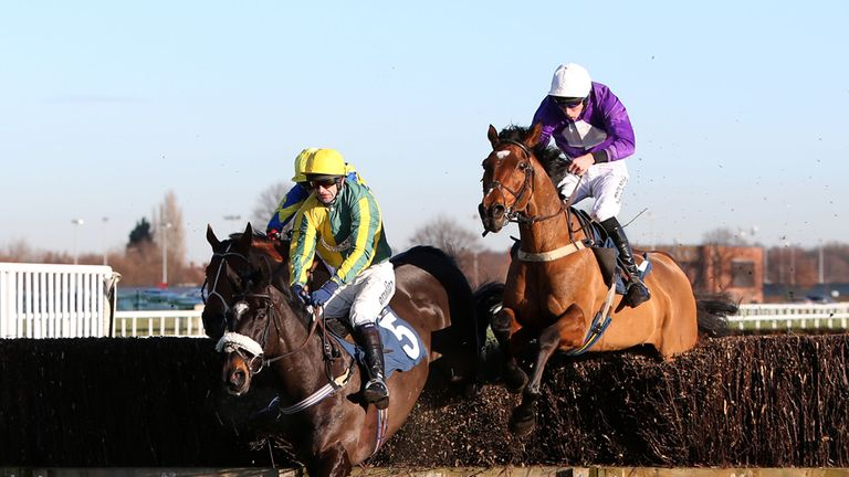 Robbie ridden by James Reveley (right) in action at Doncaster