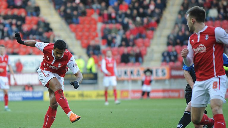 Richard Brindley: Scores the opening goal for Rotherham against Bournemouth