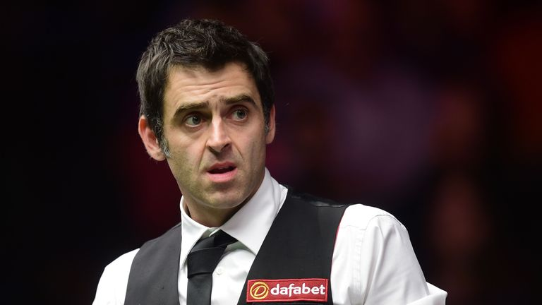 Ronnie O'Sullivan: Booked a second-round match with Marco Fu