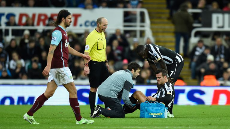 Newcastle had the most days out through injury with 1,423 days