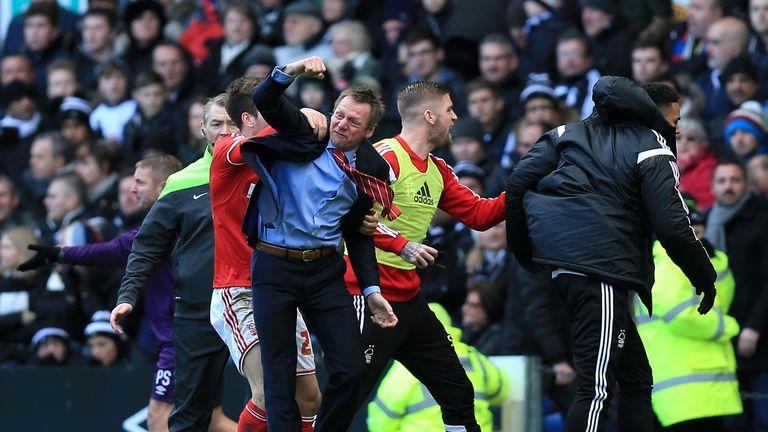 Stuart Pearce: Nottingham Forest boss celebrates Ben Osborn's winning goal