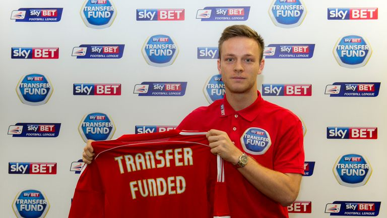 Kane joined Nottingham Forest on loan after fan Shaun Lander  won the first Sky Bet transfer fund