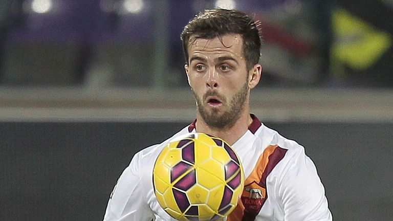 Roma midfielder and reported Liverpool target Miralem Pjanic