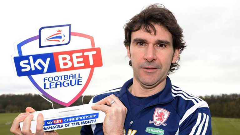 Aitor Karanka: Sky Bet Championship Manager of the Month for January