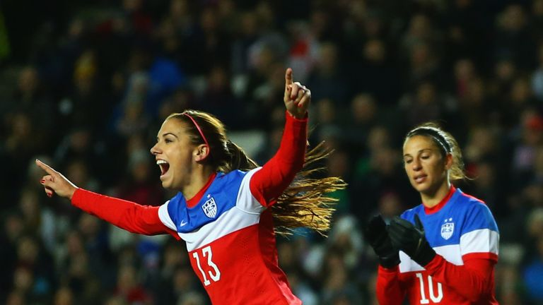 USA star Alex Morgan scored a cup hat-trick for Lyon on Sunday