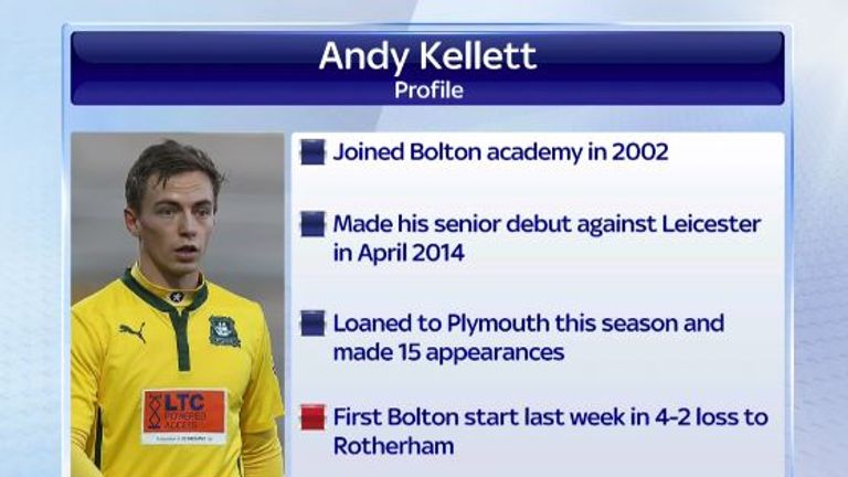 Andy Kellet: The 21-year-old is a surprise signing for Manchester United