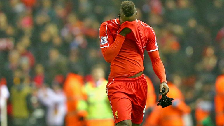 Mario Balotelli had a tough time with Liverpool