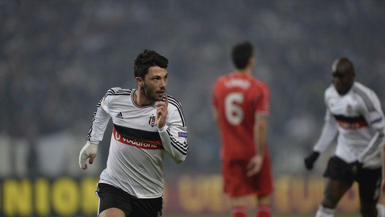 Substitute Tolgay Aslan celebrates after scoring