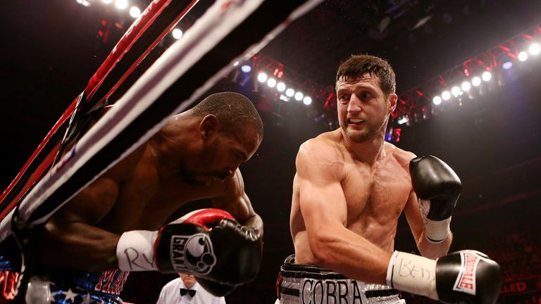 Froch enjoyed a routine defence against Yusaf Mack