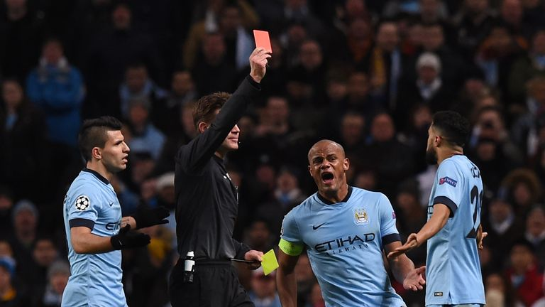 Gael Clichy will be suspended after getting sent off at the Etihad