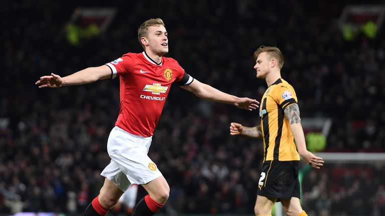 James Wilson scored in United's replay win over Cambridge