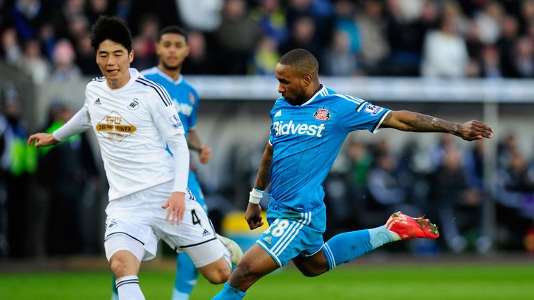 Jermain Defoe scored the opener in the 1-1 draw at Swansea on Saturday