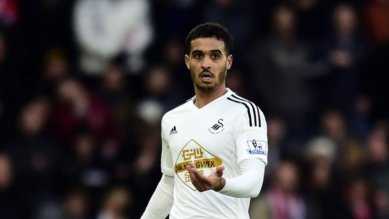 Kyle Naughton pitched up at Swansea