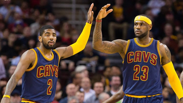 Irving #2 and LeBron James are team-mates at the Cleveland Cavaliers