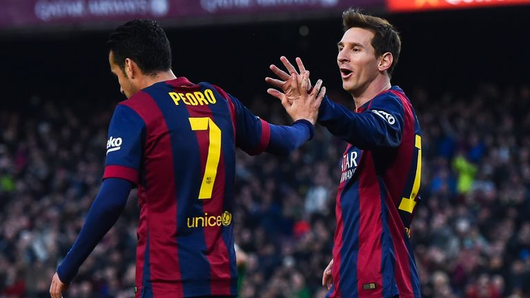 Lionel Messi and Pedro have formed a strong partnership at Barcelona