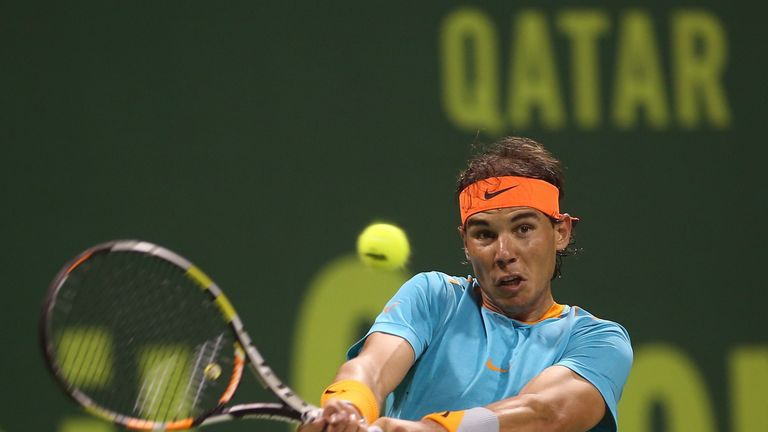 He struggled in the Doha singles earlier this year