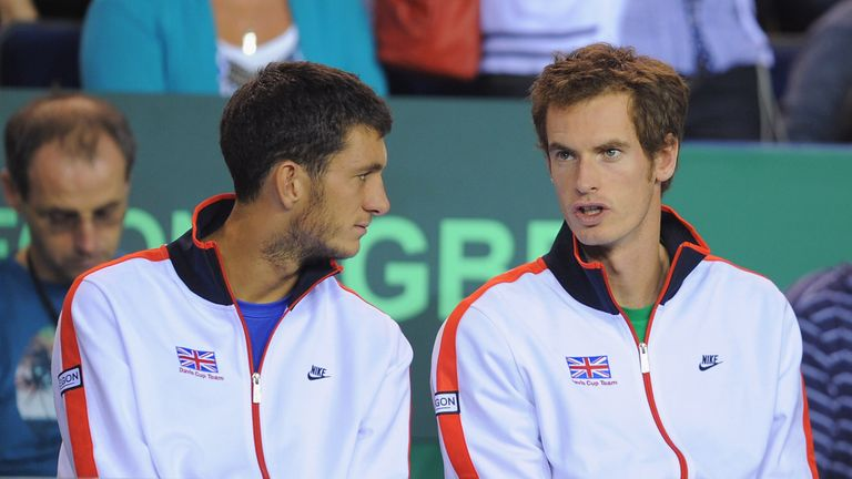 James Ward and Andy Murray: In first-round action on Tuesday