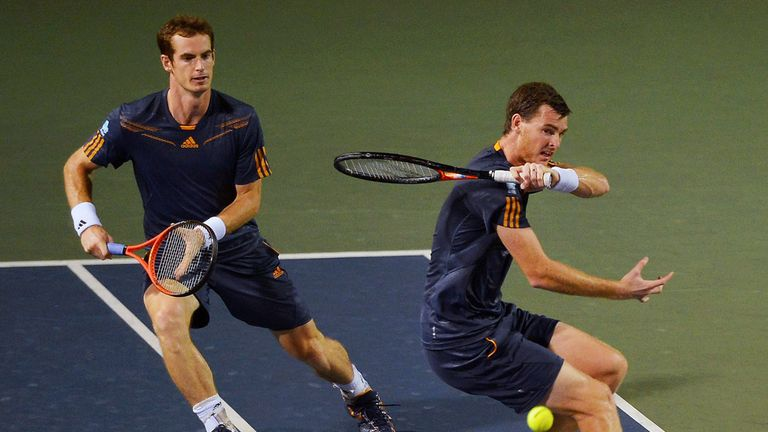 Jamie Murray (r) joins brother Andy in the GB team for the first time since 2011