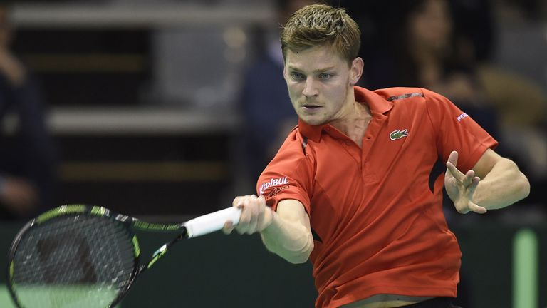 David Goffin helped Belgium through the first round against the Swiss