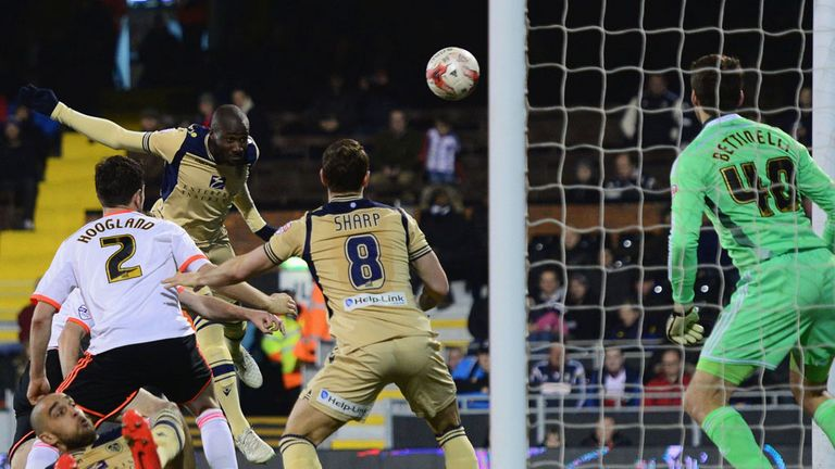 Sol Bamba: Finds the target for Leeds against Fulham
